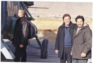 kaboul, nov 2001, arrivée de Roucaute avec l'Alliance du Nord