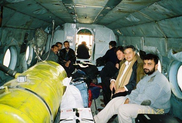 Roucaute Yves dans l'hélicoptère de Massoud